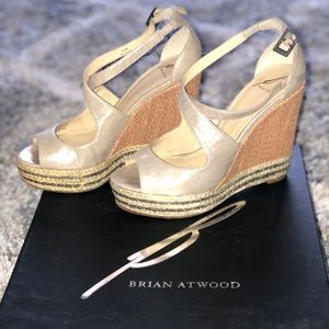 Brian Atwood wedges great condition